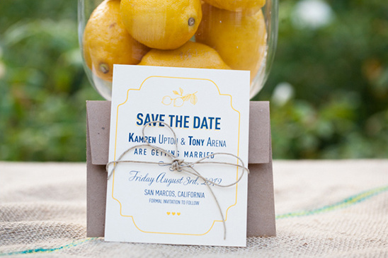 Yellow And Navy Summertime Wedding