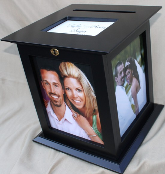 Black Picture Frame Wedding Card Box