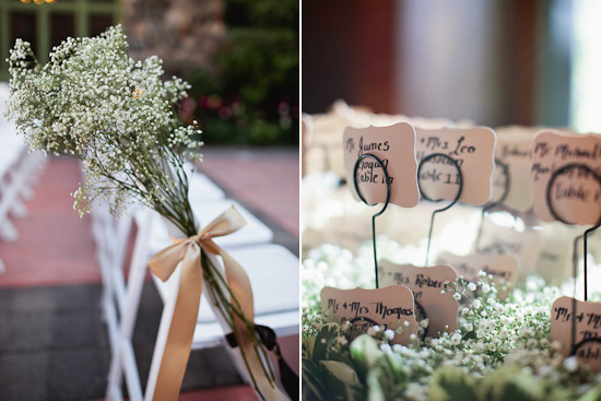 babys breath wedding details
