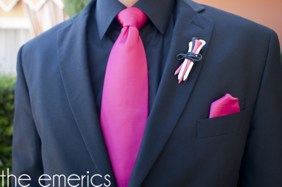 A Hot Pink and Black Las Vegas Destination Wedding
