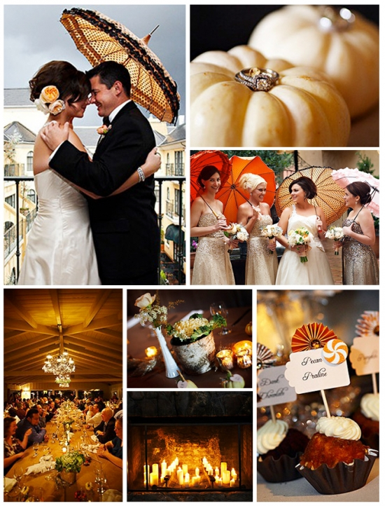 I Do Venues: Halloween Wedding Pumpkins & Parasols