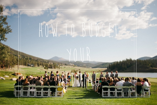 Planning your wedding budget