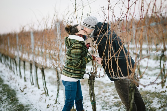 Christmas and Winter Inspired Engagement shoot