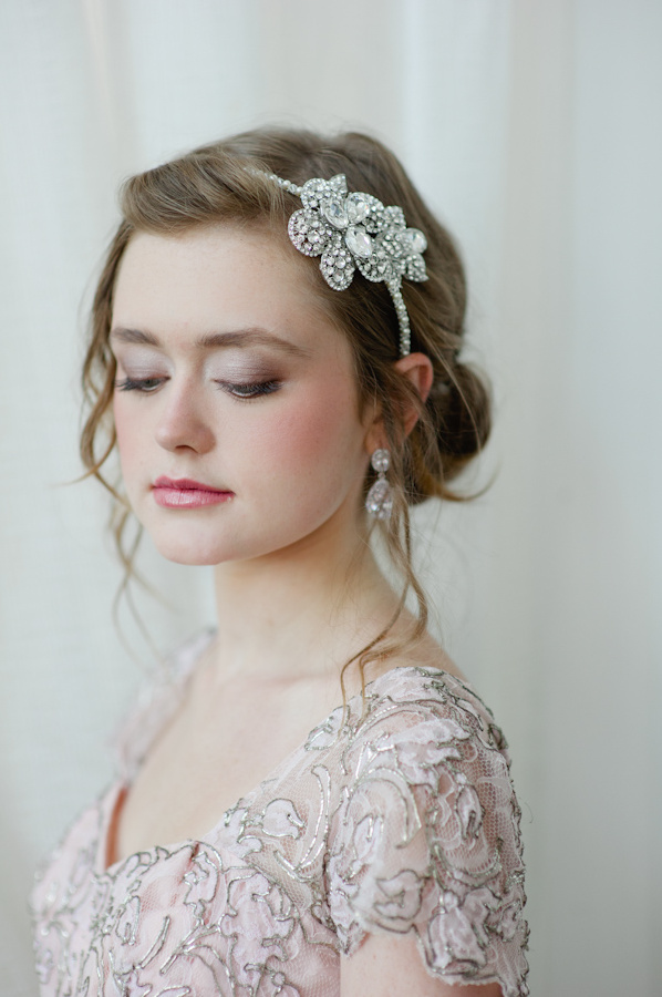 Jeweled headband for wedding