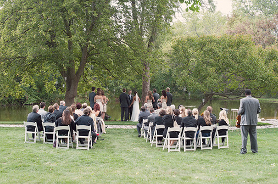 Stylish Wisconsin Backyard Wedding