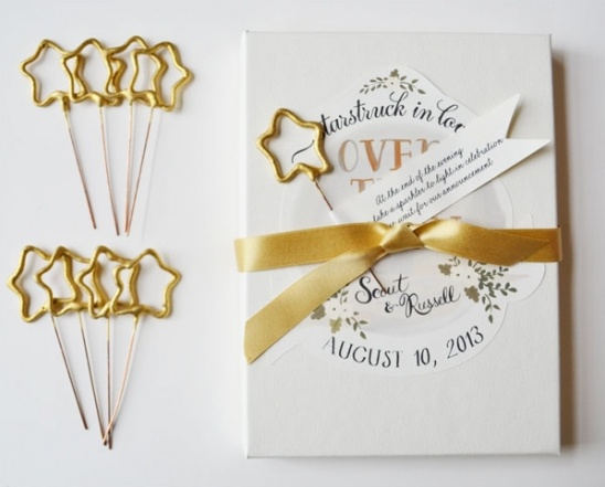Custom Gold Sparkler Boxes for your Wedding