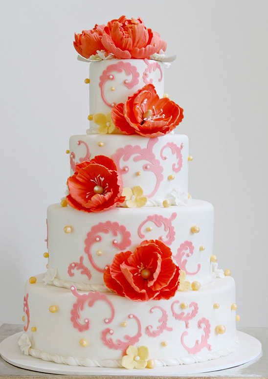 2013 Trend Report | Pink Wedding Cakes