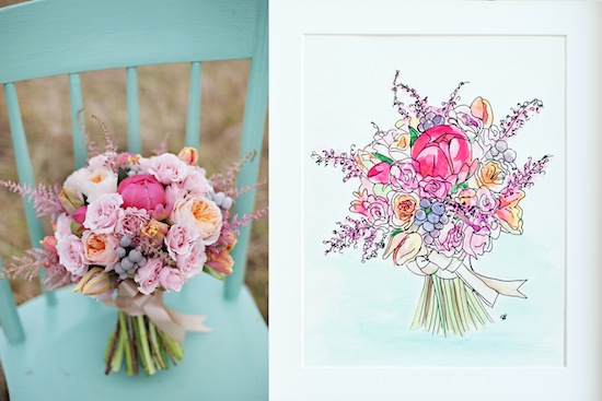 Bridal Bouquet Painting