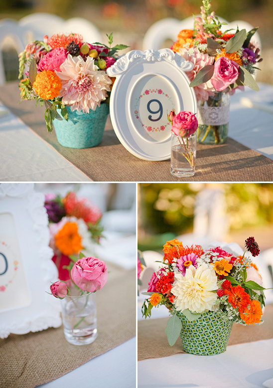Peach and Pink Backyard Wedding