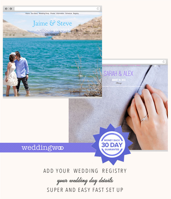Wedding Websites From WeddingWoo