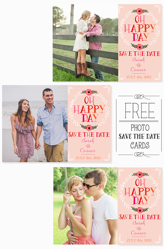 Printable DIY Save-The-Date Templates