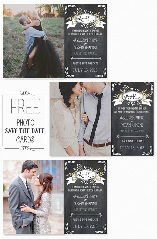 Free Photo Save The Date Cards
