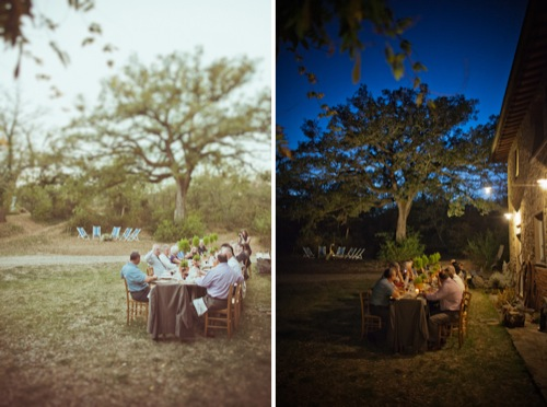 Rustic outdoor wedding