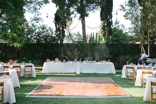 Backup Plans For Your Outdoor Wedding: Fruit Stand Backyard Wedding Reception
