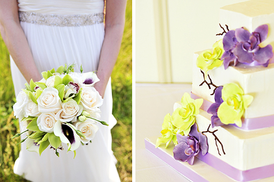 Green and Purple Multicultural Wedding Details