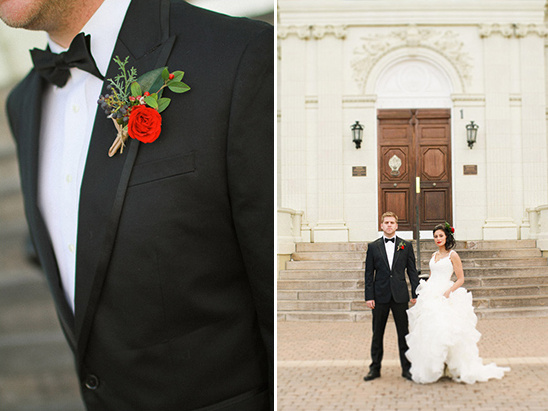 Elegant Valentine's Inspired Bride and Groom Looks