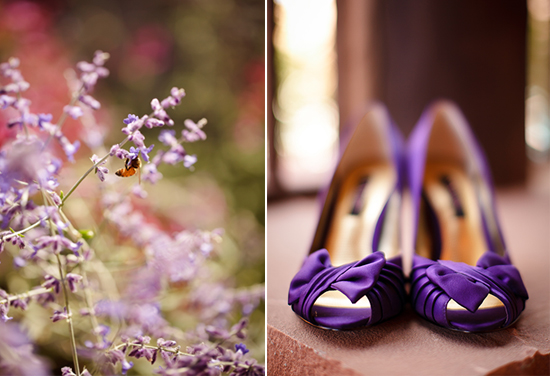 Photo of purple wedding shoes at Gateway Canyons