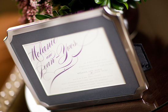 Modern Wedding in Deep Purple