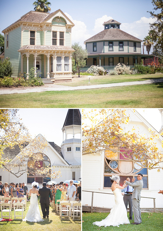 So Cal Blue And Yellow Backyard Wedding Reception