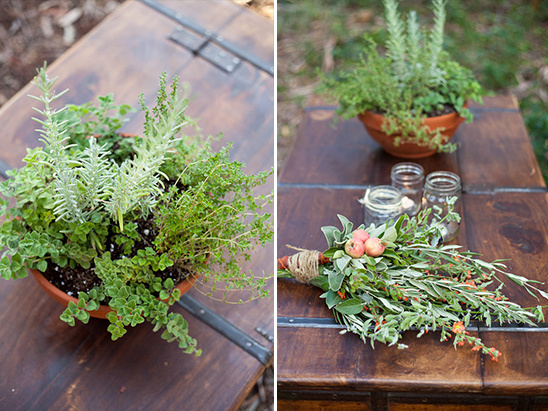 Rustic Herb Wedding Ideas