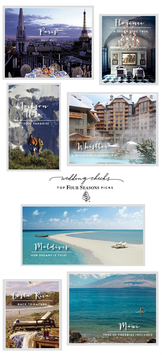 Four Seasons Elopement Winner + Four Seasons Honeymoon Spots