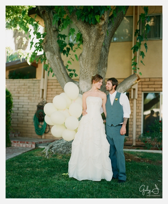 las vegas backyard budget friendly DIY wedding