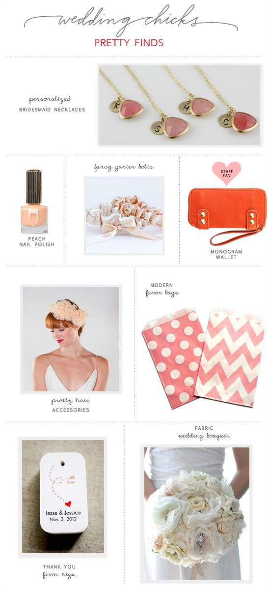 Wedding Chicks Pretty Finds |  Pretty In Pink