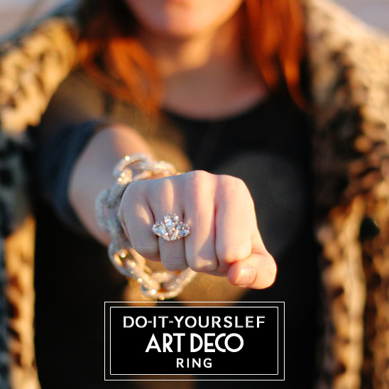 blog do it yourself art deco ring. Black Bedroom Furniture Sets. Home Design Ideas