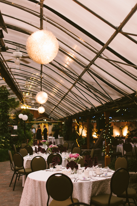 greenhouse indoor wedding decor