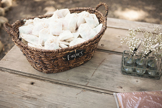 wedding favors in a basket