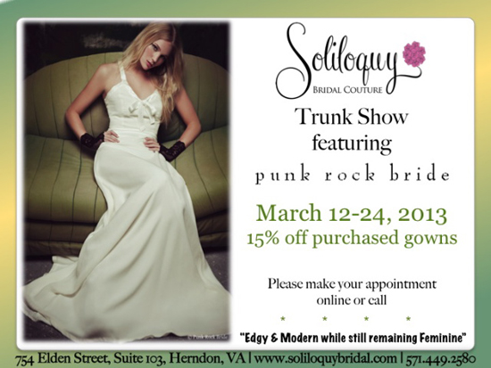 Punk Rock Bride Trunk Show