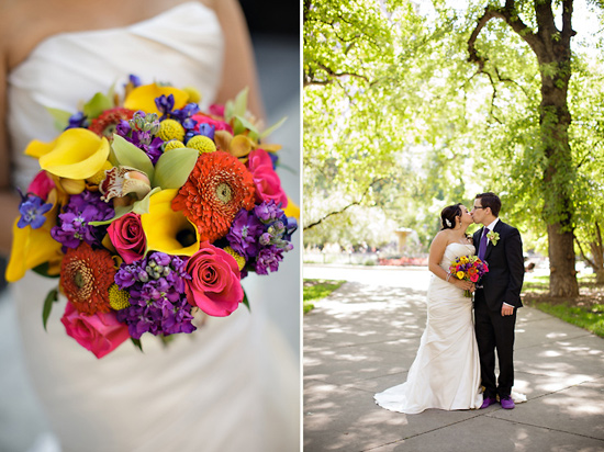 Chicago Summer Wedding with Colorful Bouquet