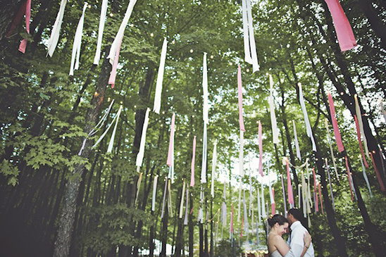 hang streamers from the trees