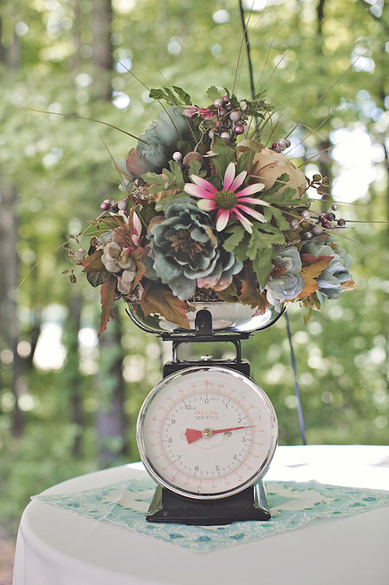 old scale for wedding centerpiece