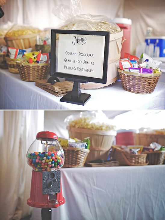 wedding snack table