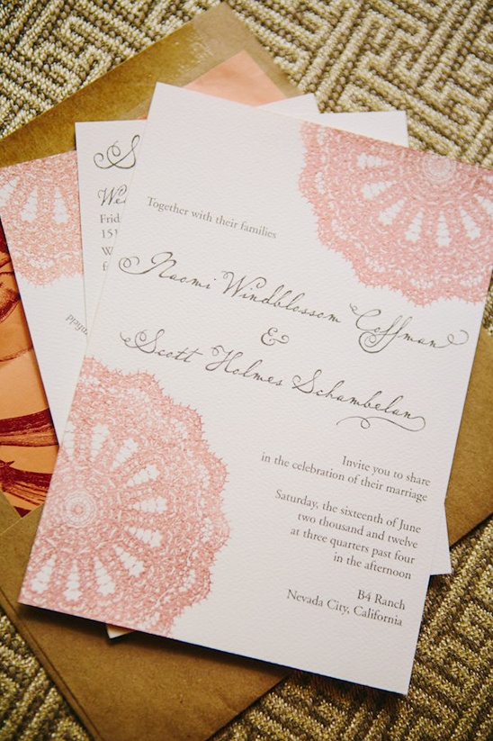 doily wedding invites