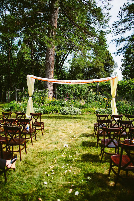 backyard ceremony setup