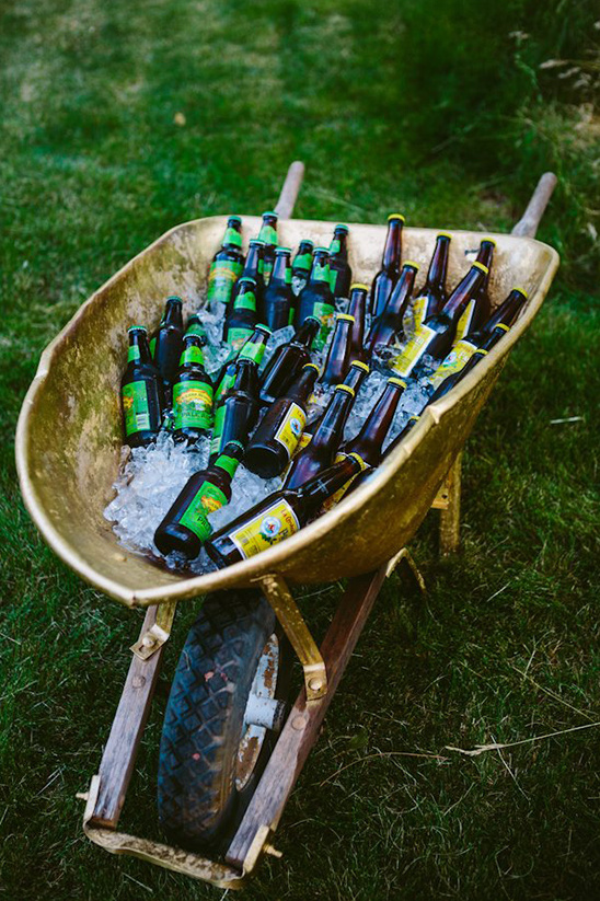 wheel barrel of beer