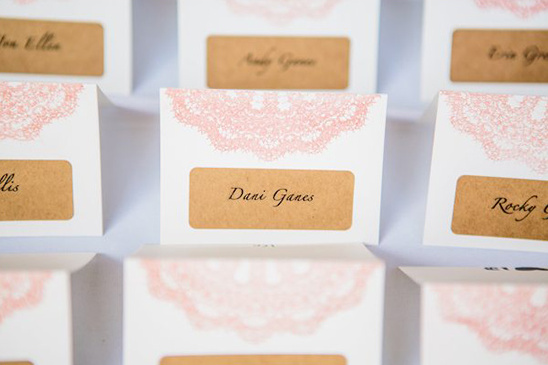 doily escort cards