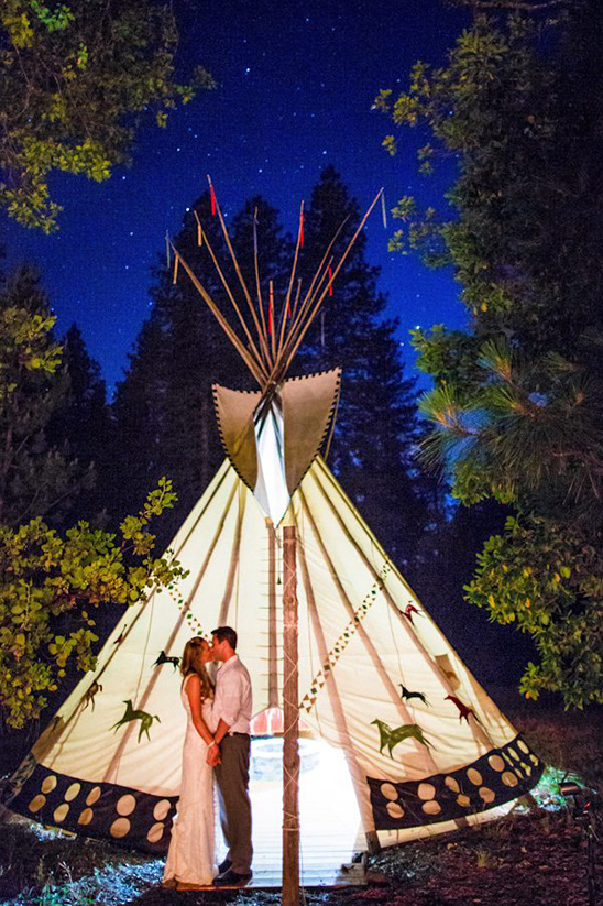 Tee Pee Wedding