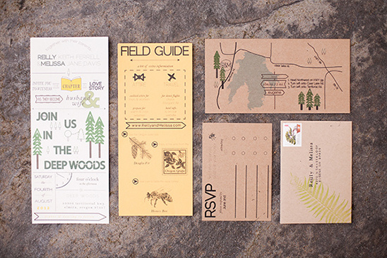 woodsy wedding invite