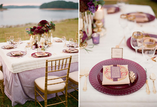 romantic purple wedding decor
