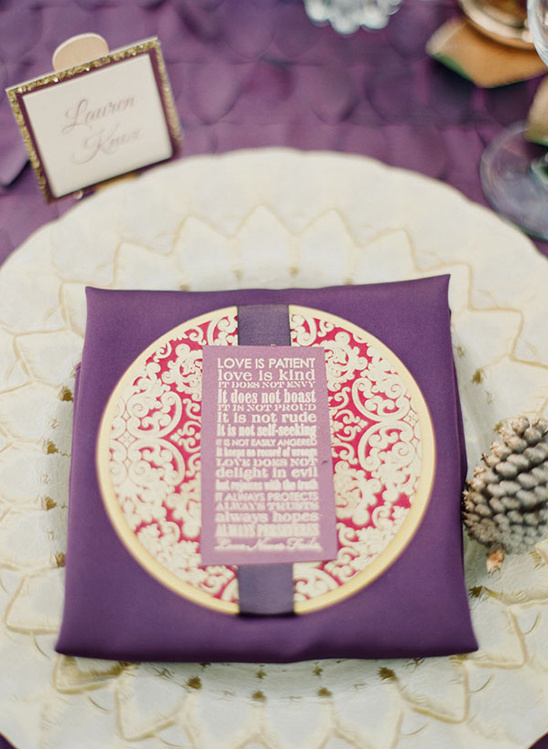 purple wedding stationery from Papered Wonders