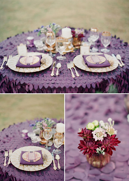 Purple, Gold And Ivory Wedding Ideas