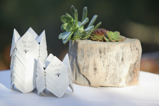 oragami wedding favors