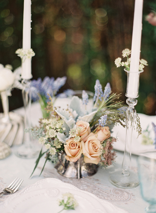 romantic, vintage elegant tablescape ideas