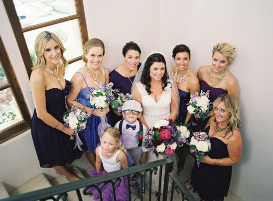 purple wedding party