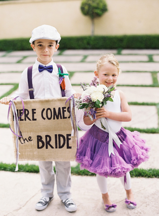 flower girl and ring bearer looks