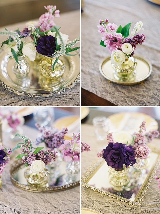 florals placed on trays