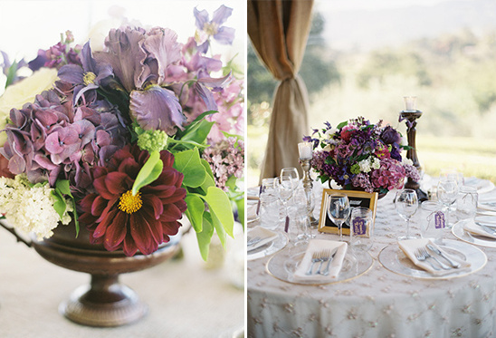 elegant pruple wedding decor ideas